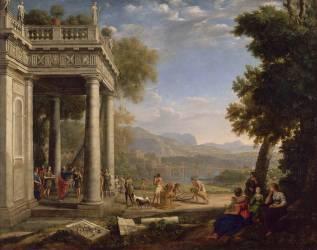 David sacré roi par Samuel (Gellé Claude dit le Lorrain) - Muzeo.com
