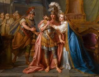 Détail de Cléopâtre avalant le poison (Antoine Coypel) - Muzeo.com