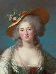Détail de Elisabeth Philippine Marie Hélène de France, dite Madame Elisabeth (Vigée-Le Brun Elisabeth...) - Muzeo.com