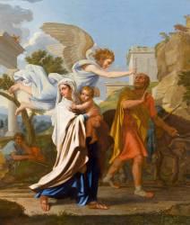 Détail de La fuite en Egypte (Poussin Nicolas) - Muzeo.com