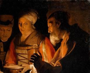 Détail de L'Adoration des bergers (La Tour Georges de) - Muzeo.com