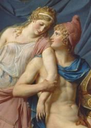 Détail de Les Amours de Pâris et Hélène (David Jacques Louis) - Muzeo.com