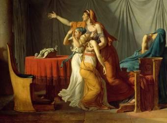 Détail de Les Licteurs rapportent à Brutus les corps de ses fils (Jacques Louis David) - Muzeo.com