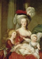 Détail de Marie-Antoinette de Lorraine-Habsbourg, reine de France et ses enfants (Vigée-Le Brun Elisabeth...) - Muzeo.com