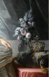 Détail de Marie-Antoinette de Lorraine-Habsbourg, archiduchesse d'Autriche, reine de France (1755-1795) (Vigée-Le Brun Elisabeth...) - Muzeo.com
