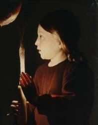 Détail de Saint Joseph charpentier (Georges de La Tour) - Muzeo.com