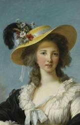 Détail de Yolande-Gabrielle-Martine de Polastron, duchesse de Polignac (1749-1793) (Vigée-Le Brun Elisabeth...) - Muzeo.com