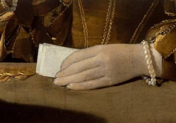 Détail du Tricheur à l'as de carreau (Georges de La Tour) - Muzeo.com