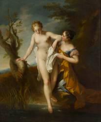 Diane au bain (Lemoyne François) - Muzeo.com