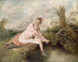Diane au bain (Antoine Watteau) - Muzeo.com