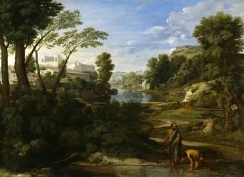 Diogène jetant son écuelle (Poussin Nicolas) - Muzeo.com