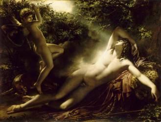 Endymion, effet de lune dit aussi Le Sommeil d'Endymion (Anne-Louis Girodet) - Muzeo.com