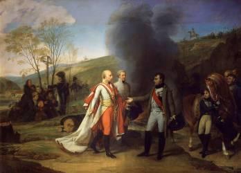Entrevue de Napoléon Ier et de François II à Sarutschitz en Moravie (Gros Antoine-Jean, Baron) - Muzeo.com