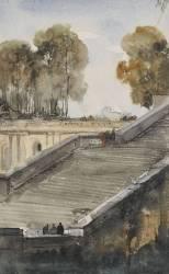 Escalier de l'Orangerie de Versailles (Granet François-Marius) - Muzeo.com