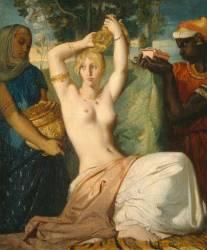 Esther se parant pour être présentée au Roi Assuérus dit La Toilette d'Esther (Théodore Chasseriau) - Muzeo.com