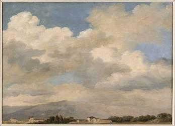 Etude de ciel au Quirinal (Valenciennes Pierre Henri de) - Muzeo.com