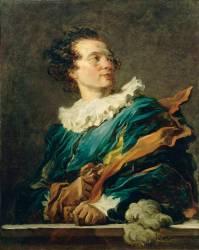 Figure de fantaisie : portrait de l'abbé de Saint-Non (1727-1791) (Fragonard Jean-Honoré) - Muzeo.com