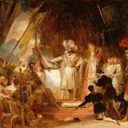 François Ier armé chevalier par Bayard (Fragonard Alexandre-Evariste) - Muzeo.com