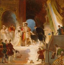 François Ier et sa cour reçoit du Primatice les oeuvres d'Italie (Fragonard Alexandre-Evariste) - Muzeo.com