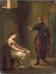 Hamlet et Ophélie (Delacroix Eugène) - Muzeo.com