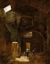 Henri IV égaré entre dans une forge et reçoit à boire du forgeron (Granet François-Marius) - Muzeo.com