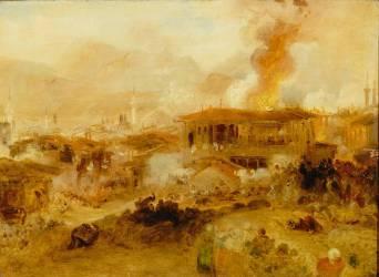 Incendie à Constantinople (Turner Joseph Mallord William) - Muzeo.com