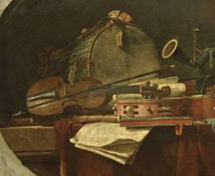 Instruments de la Musique Civile (Chardin Jean Siméon) - Muzeo.com