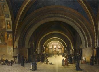 Intérieur de la basilique basse de Sain-François, à Assise (Granet François-Marius) - Muzeo.com