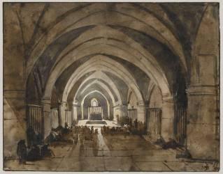 Intérieur de l'église de Saint-François d'Assise (Granet François-Marius) - Muzeo.com