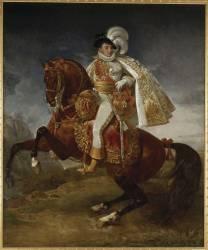 Jérôme Bonaparte, roi de Westphalie (1784-1860), portrait équestre (Gros Antoine-Jean, Baron) - Muzeo.com
