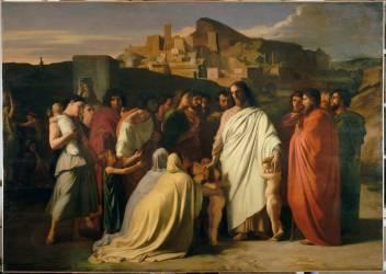Jésus Christ et les petits enfants (Flandrin Hippolyte) - Muzeo.com