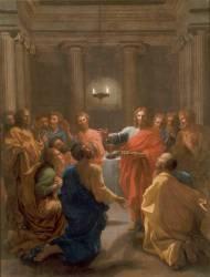 Jésus-Christ instituant l'Eucharistie (Poussin Nicolas) - Muzeo.com