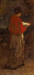 Jeune fille debout lisant (Couture Thomas) - Muzeo.com