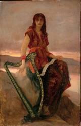 Joueuse de harpe (Hébert Ernest Antoine Auguste) - Muzeo.com