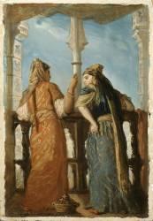 Juives au balcon, Alger (Chasseriau Théodore) - Muzeo.com
