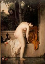 La chaste Suzanne, dit aussi Suzanne au bain (Henner Jean Jacques) - Muzeo.com
