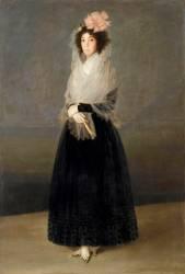 La comtesse del Carpio, marquise de la Solana (1737-1795) (De Goya Francisco) - Muzeo.com