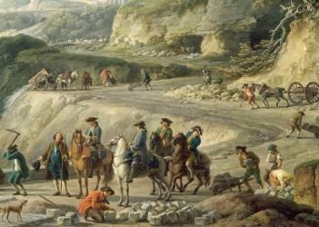 La construction d'un grand chemin (Vernet Joseph) - Muzeo.com