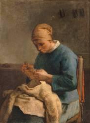 La couseuse (Millet Jean-François) - Muzeo.com