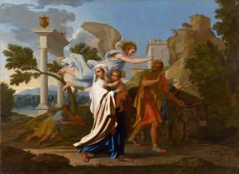 La fuite en Egypte (Poussin Nicolas) - Muzeo.com