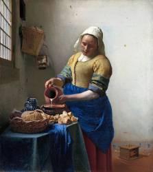 The Milkmaid (Vermeer Johannes) - Muzeo.com