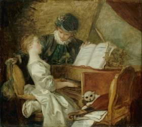 La Leçon de musique (Fragonard Jean-Honoré) - Muzeo.com