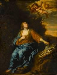 La Madeleine avec des angelots (Van Dyck Antoon) - Muzeo.com