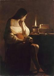 La Madeleine à la veilleuse (Georges de La Tour) - Muzeo.com