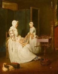 La Mère laborieuse (Chardin Jean Siméon) - Muzeo.com
