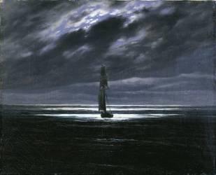 Sea in the Moonlight (Friedrich Caspar David) - Muzeo.com