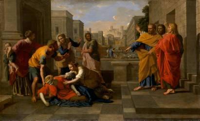 La Mort de Saphira (Poussin Nicolas) - Muzeo.com