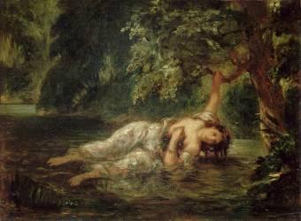 La mort d'Ophélie (Delacroix Eugène) - Muzeo.com