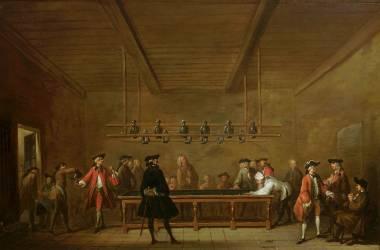 La Partie de billard (Chardin Jean Siméon) - Muzeo.com