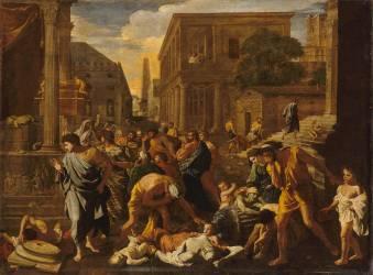 La Peste d'Asdod dit les Philistins frappés de la Peste (Poussin Nicolas) - Muzeo.com